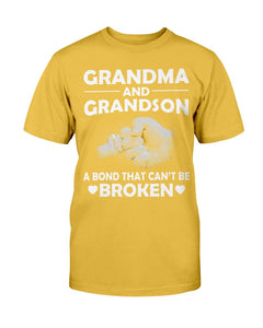 Grandma And Grandson A Bond That Can't Be Broken T-Shirt - ATMTEE