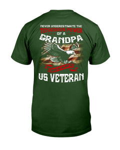 Never Underestimate The Tenacious Power Of Grandpa Who Is Also A U.S. Veteran T-Shirt - ATMTEE