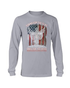 Stand For The Flag Kneel For The Cross Long Sleeve - ATMTEE