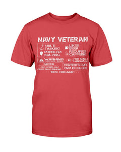 Navy Veteran Contents May Vary In Colors T-Shirt - ATMTEE