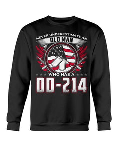 Old Man Who Has DD-214 Crewneck Sweatshirt - ATMTEE