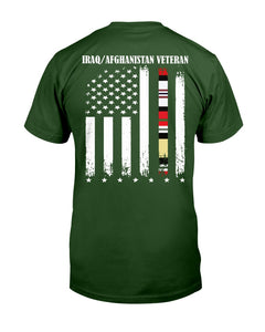 Proud Iraq Afghanistan Veteran Flag T-Shirt - ATMTEE