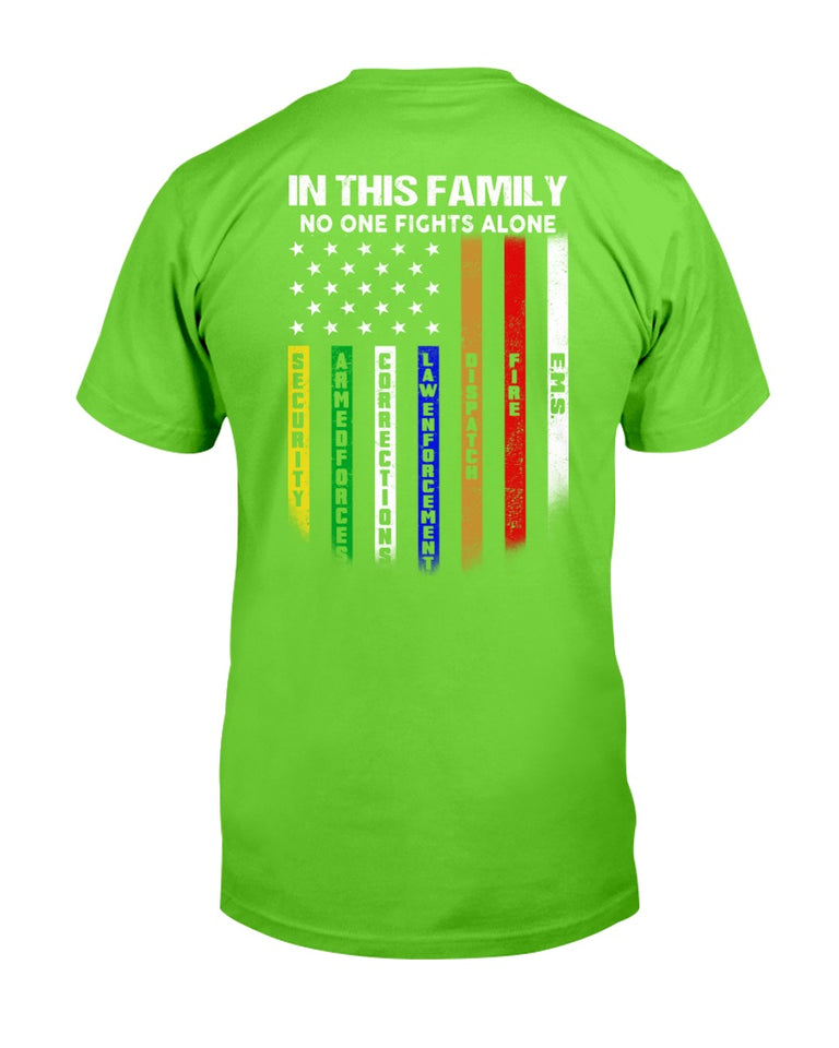 In This Family No One Fights Alone T-Shirt - ATMTEE