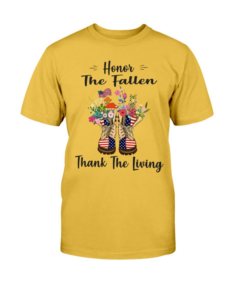 Female Veteran Honor The Fallen Thank The Living T-Shirt - ATMTEE