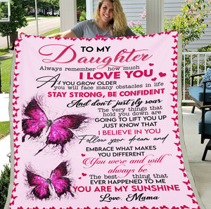 Personalized Blanket To My Daughter Always Remember How Much I Love You Fleece Blanket - ATMTEE