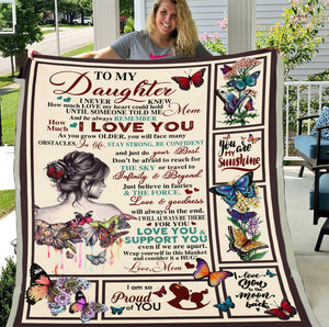 To My Daughter I Never Knew How Much Love My Heart Could Hold Fleece Blanket - ATMTEE