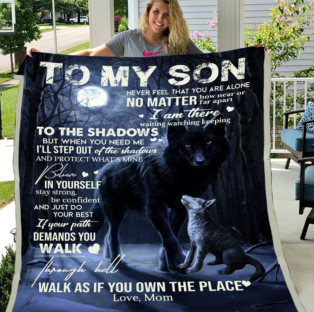 Personalized To My Son Never Feel That You Are Alone No Matter How Near Or Far Apart I Am There Fleece Blanket - ATMTEE