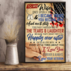To My Wife Once Upon A Time I Love You From Veteran Vertical Poster - ATMTEE