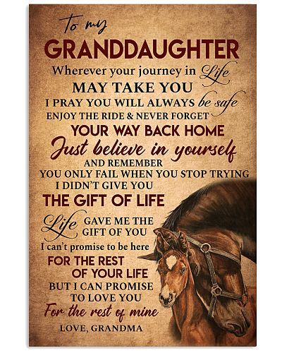 To My Granddaughter Wherever Your Journey In Life Mat Take You Horse Fleece Blanket - ATMTEE