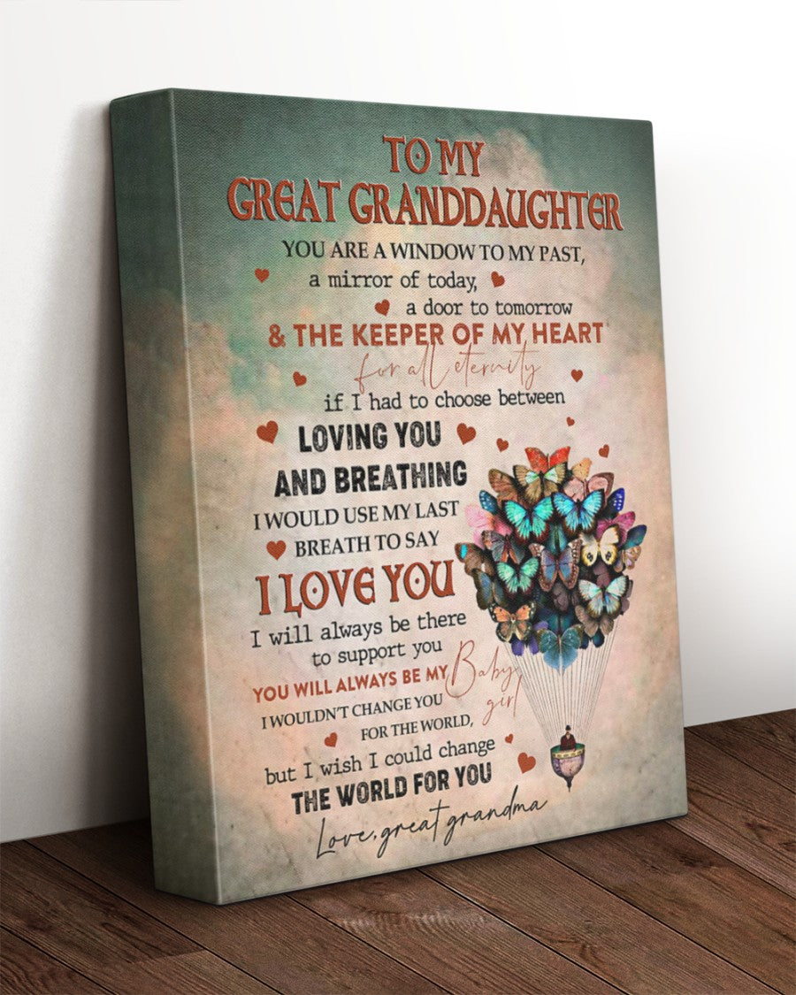 To My Granddaughter You've Been Through A Lot I Know It's Hard, Gift From Grandma Canvas - ATMTEE
