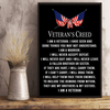 Veteran's Creed I Am A Veteran I Have Seen And Done Things 24x36 Poster - ATMTEE