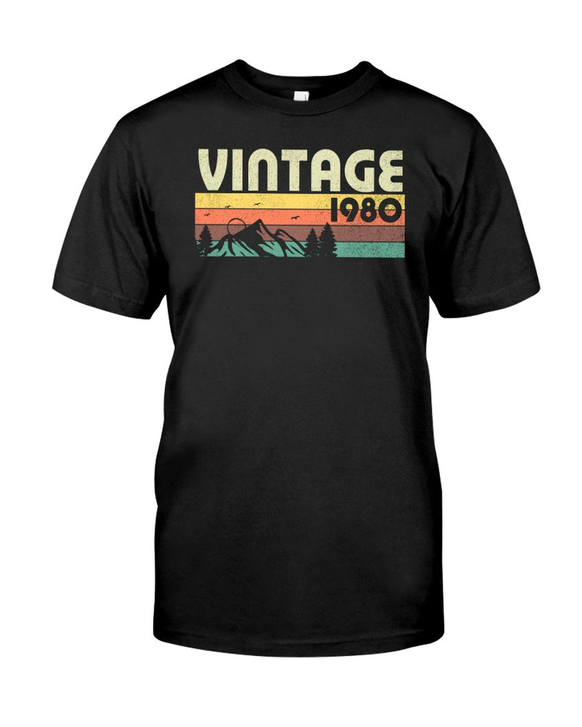 Vintage 1980 V3, 41st Birthday Gifts For Him For Her, Birthday Unisex T-Shirt KM0704 - ATMTEE