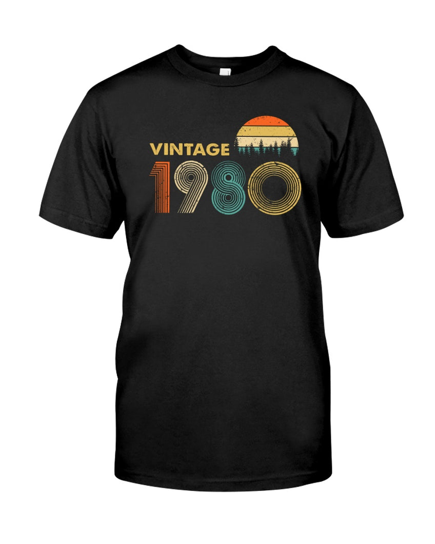 Vintage 1980 V5, 41st Birthday Gifts For Him For Her, Birthday Unisex T-Shirt KM0704 - ATMTEE