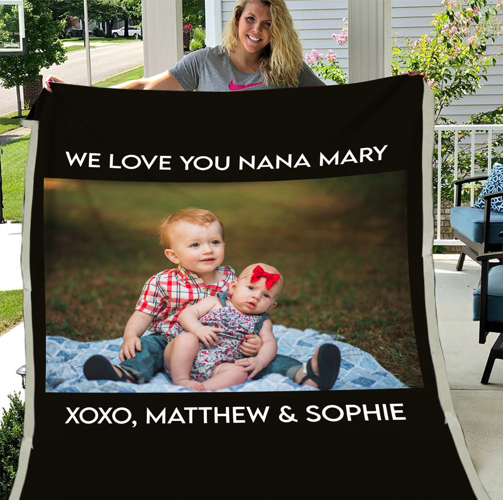 Personalized Picture Perfect Sherpa Blanket - ATMTEE