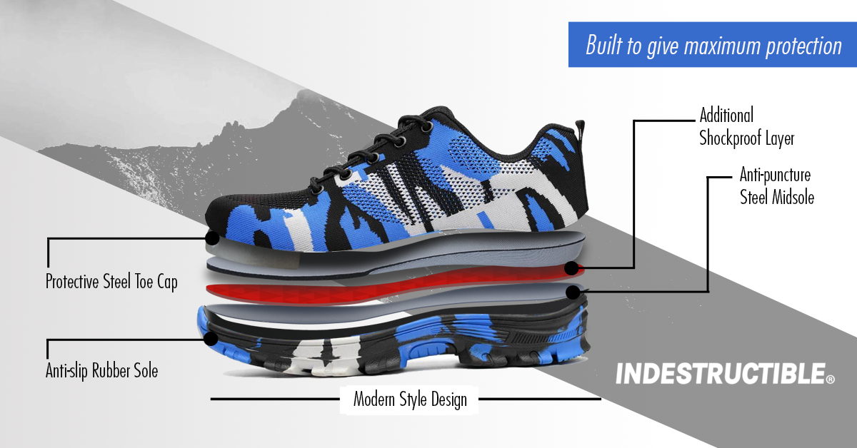 authentic quality exquisite design lower price with 50 % OFF Battlefield Camouflage Blue - Indestructible Shoes