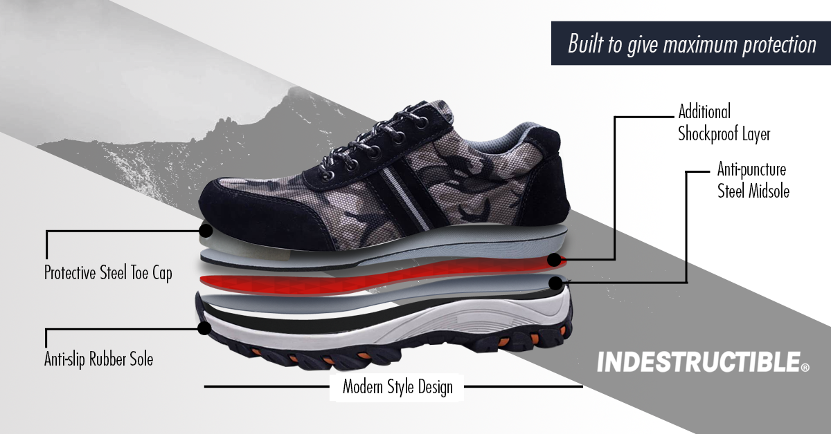 faa12dbf60a4b 50 % OFF Battlefield Camouflage Gray - Indestructible Shoes