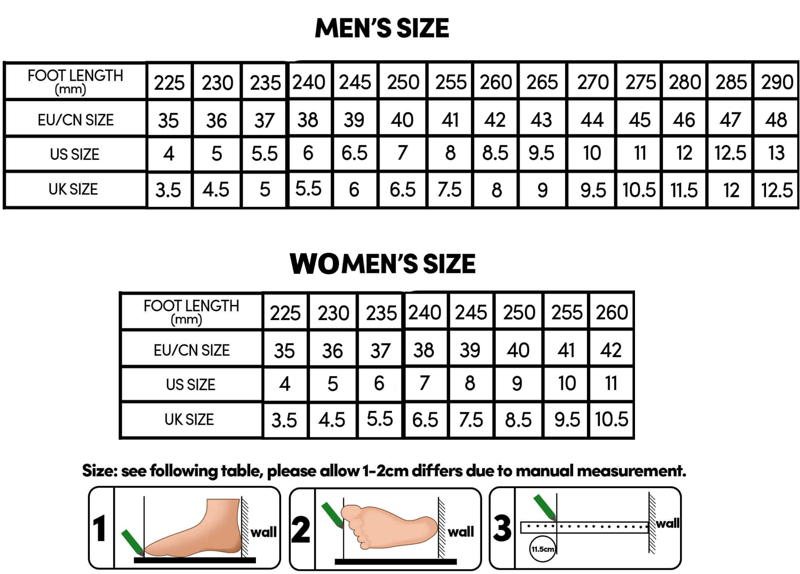 11 Curious Military Shoe Size Chart