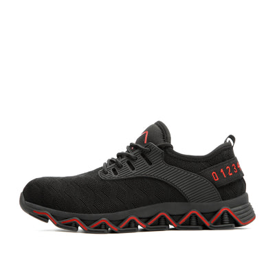 Ziczac Black Red - Indestructible Shoes