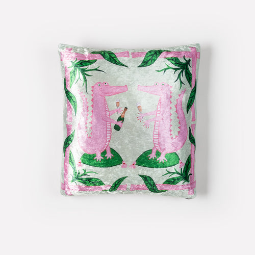 Aly + Gator Crushed Velvet Pillow Cover