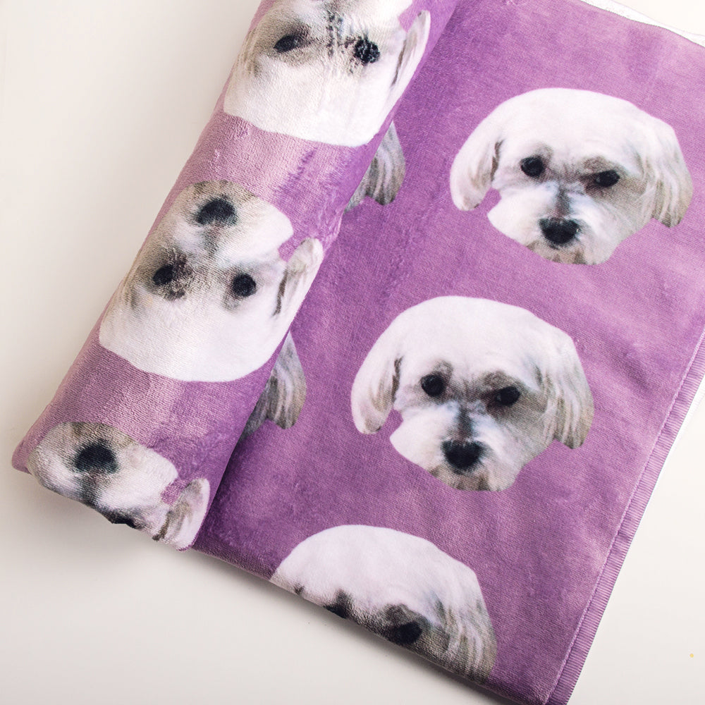 Custom Pet Beach Towels with 2 Pets