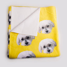Load image into Gallery viewer, Custom Pet Beach Towels with 2 Pets
