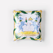 Load image into Gallery viewer, Lemon + Capri Crushed Velvet Pillow