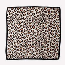 Load image into Gallery viewer, Leopard Print Silk Scarf