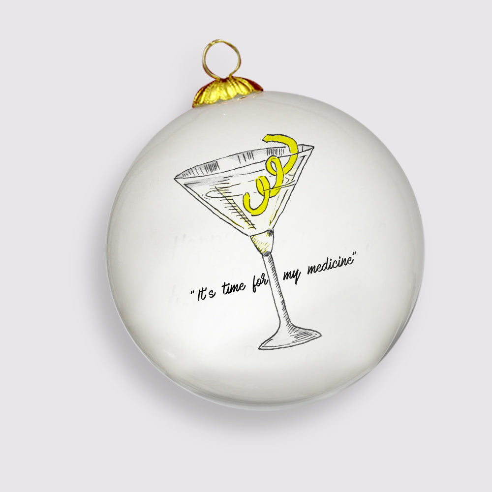 Limited Edition 2019 Martini Holiday Ornament