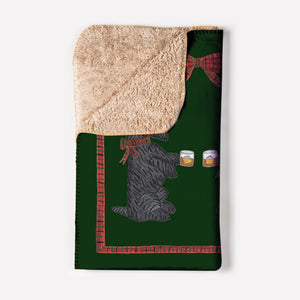 Whiskey + Rocks Holiday Crushed Blanket