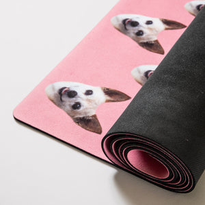 Custom Pet Yoga Mat with 2 Pets