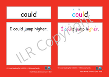 Load image into Gallery viewer, ILR Flash Word Sentence Cards Set 1