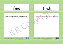Load image into Gallery viewer, ILR Flash Word Sentence Cards Set 2