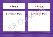 Load image into Gallery viewer, ILR Flash Word Sentence Cards Set 3