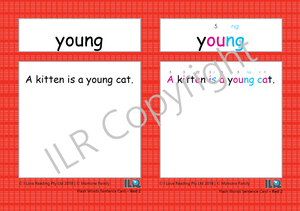 ILR Flash Word Sentence Cards Set 3