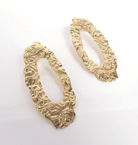 DRIP EARRINGS BRASS.