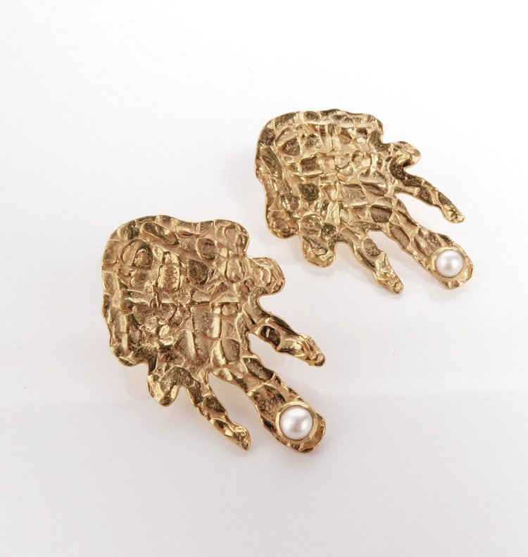 MELT BRASS EARRINGS.