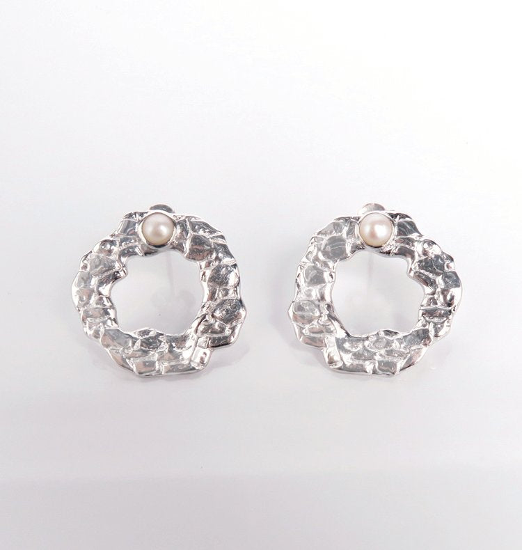 MELT O EARRINGS SILVER.