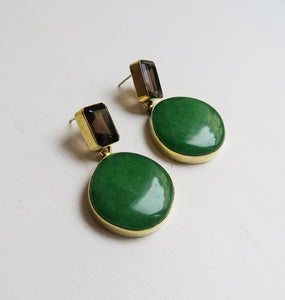 DAZE EARRINGS BRASS.
