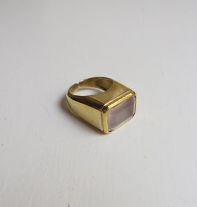GOLDEN PINK RING.