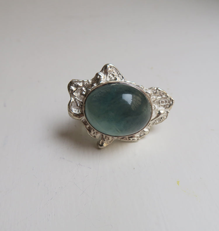 SLUSH - BLUE/GREEN SILVER RING.