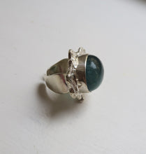 Load image into Gallery viewer, SLUSH - BLUE/GREEN SILVER RING.