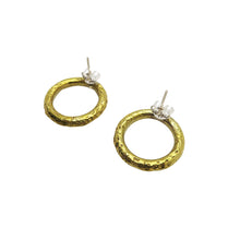 Load image into Gallery viewer, ACE EARRINGS BRASS.