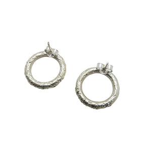 ACE EARRINGS SILVER.