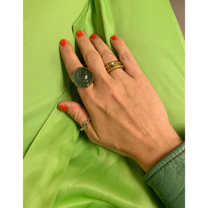 MAURITZ GREEN RING.