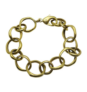 NO STRINGS BRACELET- BRASS.