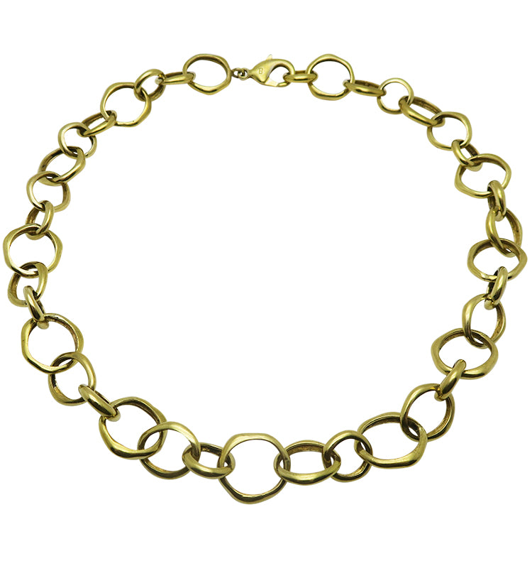 NO STRINGS NECKLACE - BRASS.