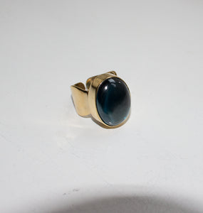 SHOT RING - BLUE LAGOON BRASS.