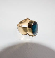 Load image into Gallery viewer, SHOT RING - BLUE LAGOON BRASS.