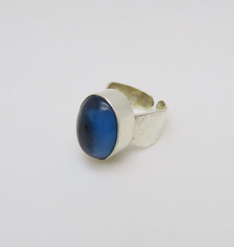 SHOT RING - BLUE LAGOON SILVER.