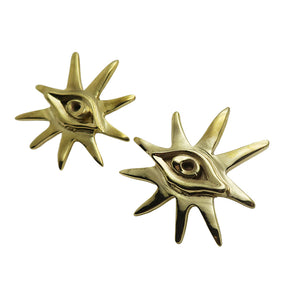 VIEW EARRINGS - BRASS.